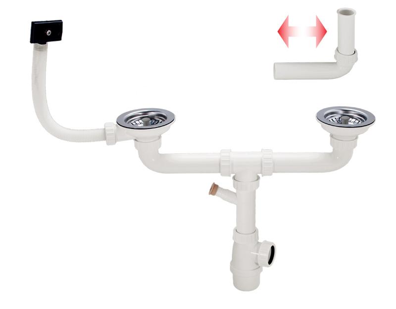 Kit Scarico Vasca Da Bagno : Kit di scarico a due vie per vasche sfasate o con uguale