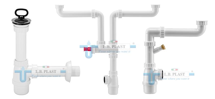 Bottle traps for kitchen sinks - L B  Plast Srl