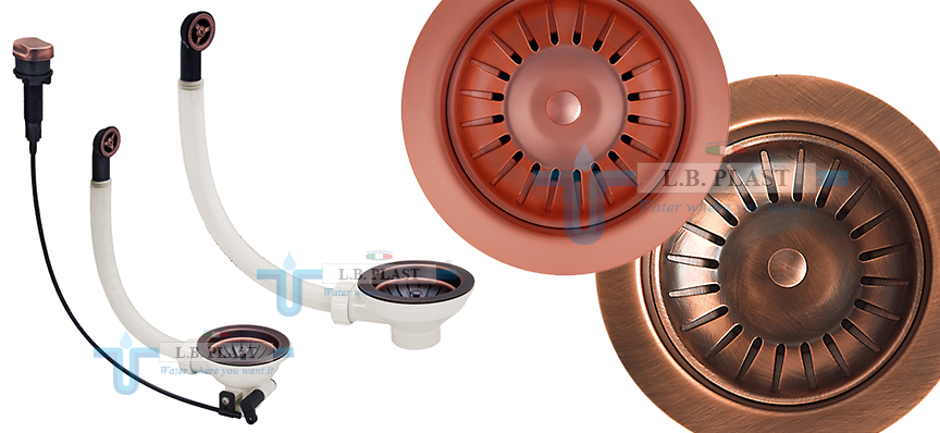 Copper waste for kitchen sink - L.B. Plast Srl