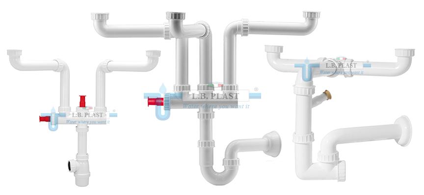 Space saver plumbing kit