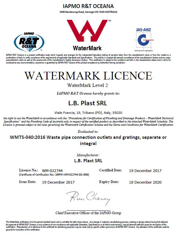 Lb Plast Basket Wastes Obtain The Watermark Certification For The